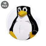 """Tux the Penguin 3.5"""" Button (10 pack)"""