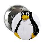 """Tux the Penguin 2.25"""" Button (10 pack)"""