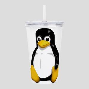 Tux the Penguin Acrylic Double-wall Tumbler