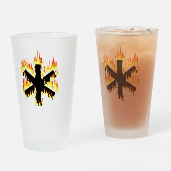 Asterisk (Flames) Drinking Glass