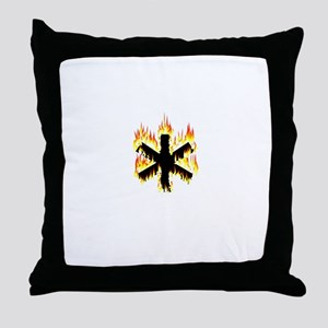 Asterisk (Flames) Throw Pillow