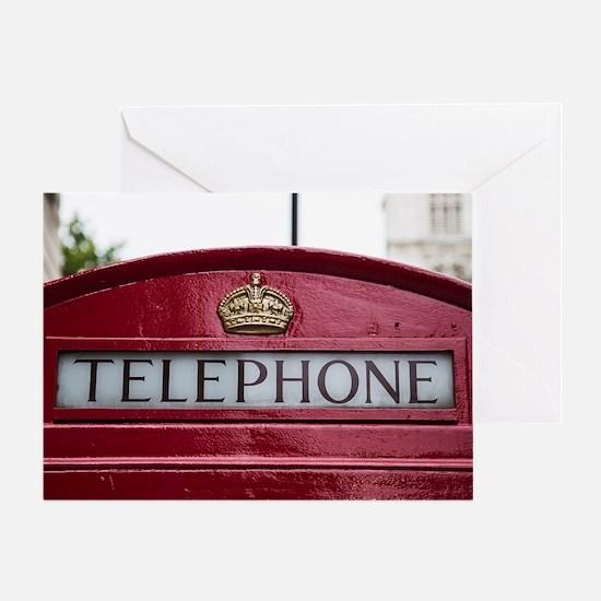 Cute Telephone booth Greeting Card