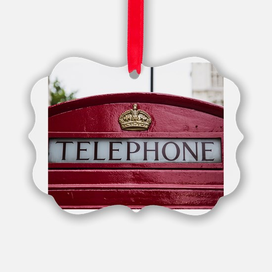 Cute Telephone booth Ornament