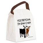 Yes, I'm Goat Crazy! Canvas Lunch Bag