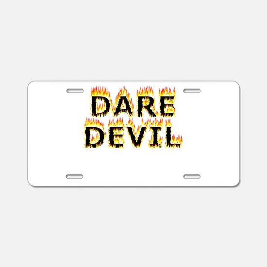 Daredevil (Flames) Aluminum License Plate