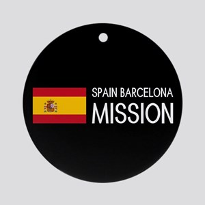 Spain, Barcelona Mission (Moroni) Round Ornament
