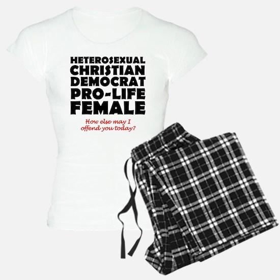 Offensive Christian Democrat Pro-Life Faith Pajama