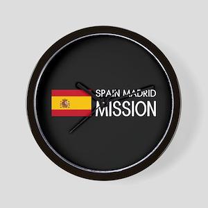 Spain, Madrid Mission (Flag) Wall Clock