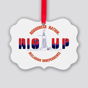 RIG UP LOGO'S Picture Ornament