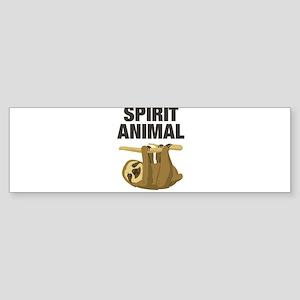 Sloth is my Spirit Animal Bumper Sticker