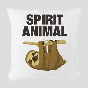 Sloth is my Spirit Animal Woven Throw Pillow