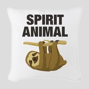 Sloth is my Spirit Animal Woven Throw Pillow