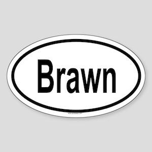 BRAWN Oval Sticker