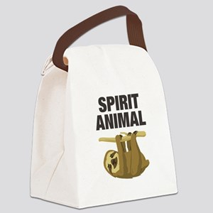 Sloth is my Spirit Animal Canvas Lunch Bag