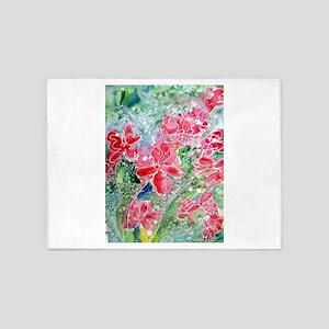 Beautiful floral art, 5'x7'Area Rug