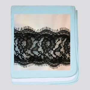 great gatsby black lace baby blanket