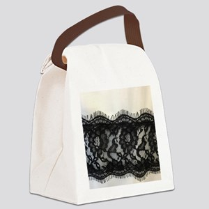 great gatsby black lace Canvas Lunch Bag