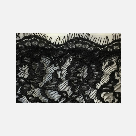 great gatsby black lace Magnets