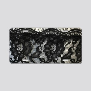 great gatsby black lace Aluminum License Plate