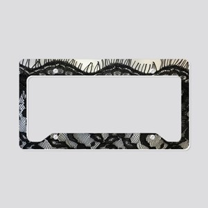 great gatsby black lace License Plate Holder