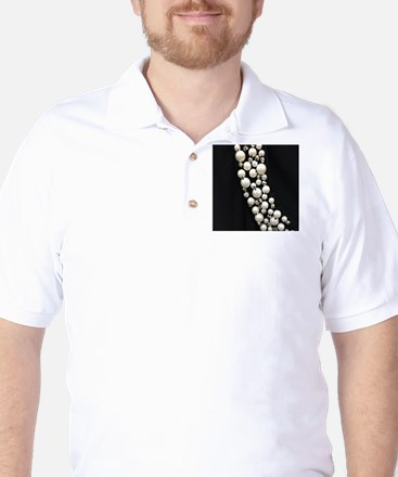 black and white pearl Golf Shirt