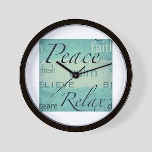 Zen words design Wall Clock