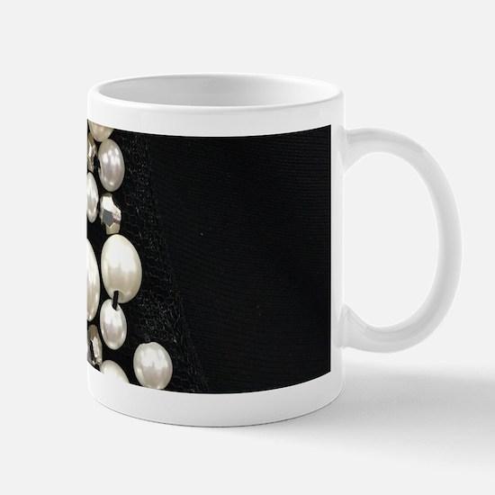 black and white pearl Mugs