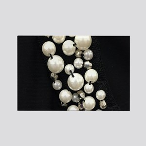 black and white pearl Magnets