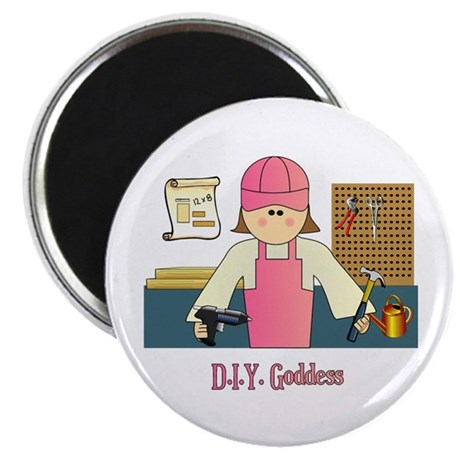 "D.I.Y. Do It Yourself Goddess 2.25"" Magnet (100 pa"
