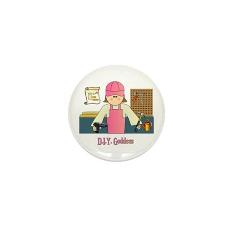 D.I.Y. Do It Yourself Goddess Mini Button (100 pac