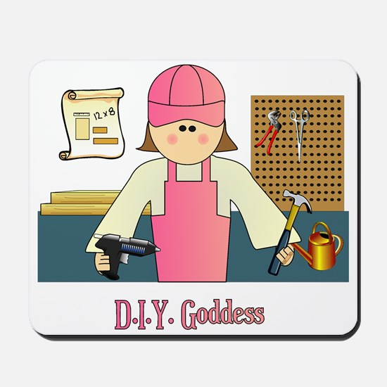 D.I.Y. Do It Yourself Goddess Mousepad