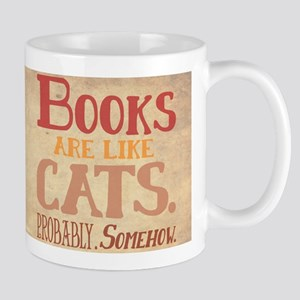 Books are like cats Parchment Mugs