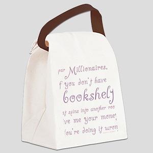 Funny Millionaires Bookshelves Canvas Lunch Bag