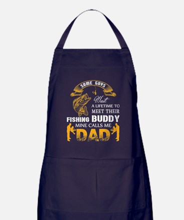 Cute Dad fishing Apron (dark)