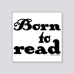 Born to Read Swirly Girly Type Black Sticker