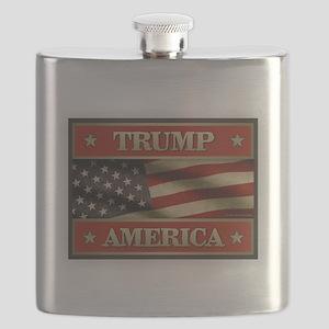 Trump American Flag Flask