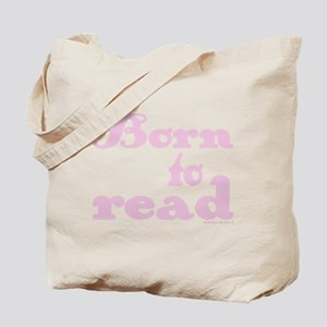 Born to Read Swirly Girly Type Pink Tote Bag