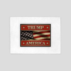 Trump American Flag 5'x7'Area Rug