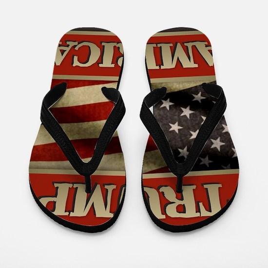 Trump American Flag Flip Flops