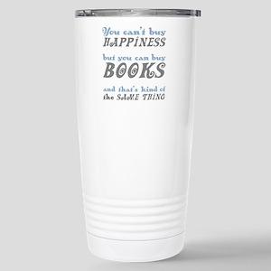 Buy Books Happiness Stainless Steel Travel Mug