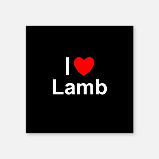 "Lamb Square Sticker 3"" x 3"""