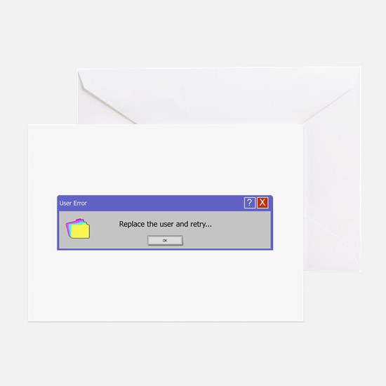 Computer Error Greeting Cards