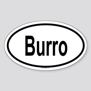 BURRO Oval Sticker