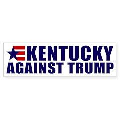Kentucky Against Trump Bumper Sticker Bumper Stick