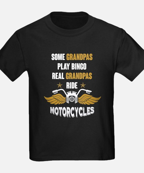 Real Grandpas Ride Motorcycles T Shirt T-Shirt