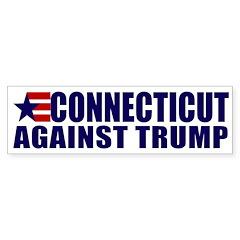 Connecticut Against Trump Bumper Bumper Sticker