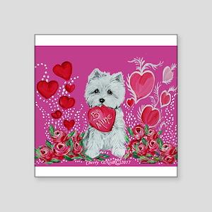 Valentine Westie Sticker