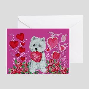 Valentine Westie Greeting Cards