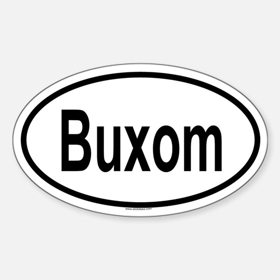 BUXOM Oval Decal