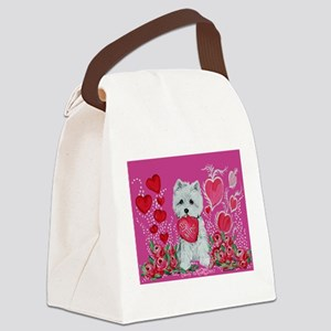 Be My Westie Canvas Lunch Bag